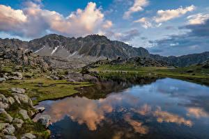 Фото Андорра Гора Озеро Облако Encamp