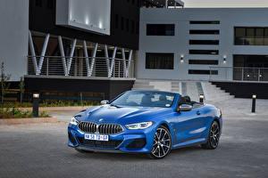 Картинка BMW Кабриолет Голубая Металлик 2019 M850i xDrive Cabrio машины