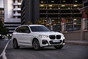 Обои BMW Кроссовер Белые Металлик 2021 X3 xDrive20d M Sport Mzansi Edition Автомобили