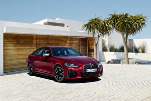 Картинка BMW Металлик Бордовый M440i xDrive Gran Coupe, (Worldwide), (G26), 2021 Автомобили