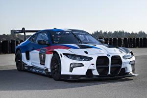 Обои BMW Стайлинг Белый 2021 M4 GT3