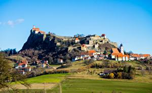 Фотография Замок Поля Австрия Холм Село Riegersburg Castle, Styria
