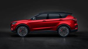 Фотография Chery Красная Металлик Сбоку CUV Jetour X70 Coupe, 2020 -- Автомобили
