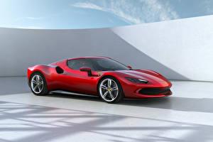 Картинка Феррари Красные Металлик 296 GTB (F171), 2022 Автомобили