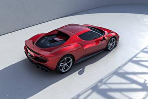 Фотография Ferrari Красный Металлик Сверху 296 GTB (F171), 2022 Автомобили
