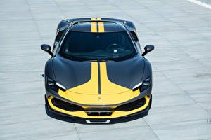 Картинка Феррари Черный Желтый Металлик 296 GTB Assetto Fiorano, (F171), 2022 машина