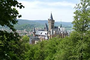 Фотографии Германия Замок Wernigerode Castle, Wernigerode city, Saxony-Anhalt