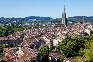 Фотографии Здания Берн Швейцария Башня