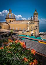 Фотографии Италия Церковь Башня Praiano