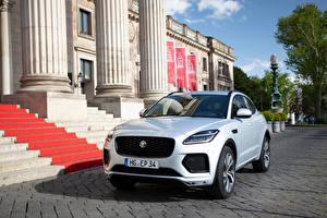 Обои Jaguar Кроссовер Белых Металлик E-Pace 300 Sport, (Worldwide), 2020 Автомобили