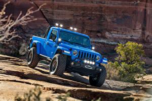 Картинки Jeep Внедорожник Голубых Пикап кузов 2019-20 J6 авто