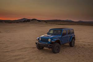 Фотография Джип SUV Голубых 2021 Wrangler Unlimited Rubicon 392 Автомобили