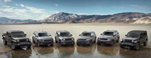 Обои Jeep Много Серый Металлик Grand Cherokee, Compass, Wrangler, Cherokee, Renegade, Gladiator авто