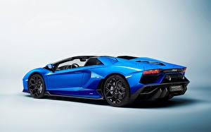 Картинка Ламборгини Синие Металлик ventador LP 780-4 'Ultimae' Roadster (LB834), 2021 автомобиль