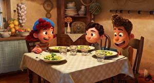 Обои для рабочего стола Стол Luca, Pixar, Walt Disney Мультики