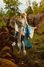 Фотографии Михаил Давыдов фотограф The Legend of Zelda Блондинка Поза Платье Косплей Zelda молодые женщины