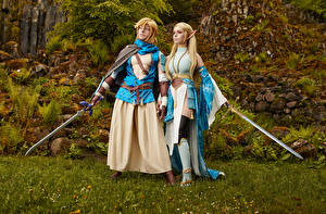 Фото Михаил Давыдов фотограф The Legend of Zelda Косплей Меч Link and Zelda Девушки
