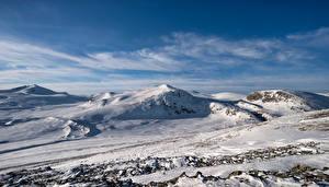 Картинки Норвегия Гора Парк Снега Dovrefjell