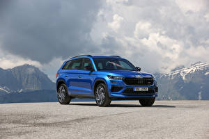 Фото Skoda CUV Синие Металлик Kodiaq RS, (Worldwide), 2021 Автомобили