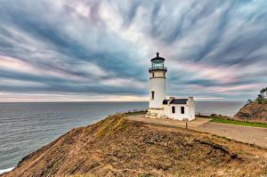 Фотография Штаты Побережье Маяки Вашингтон North Head Lighthouse