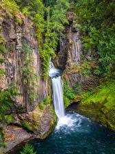 Обои Штаты Водопады Утес Toketee Falls, Oregon