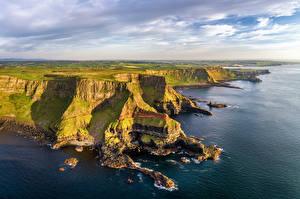 Фотография Великобритания Побережье Пейзаж Northern Ireland, Antrim Природа