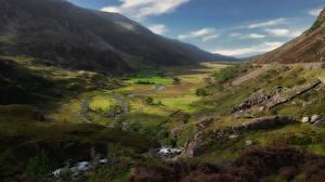 Картинка Великобритания Гора Уэльс Долина Snowdonia Природа