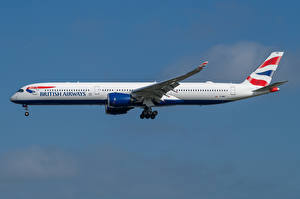 Фотография Эйрбас Самолеты Пассажирские Самолеты Сбоку A350-1000, British Airways