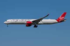 Картинка Airbus Самолеты Пассажирские Самолеты Сбоку A350-1000, Virgin Atlantic Airways