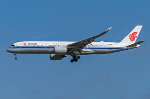 Фотографии Airbus Самолеты Пассажирские Самолеты Сбоку A350-900, Air China