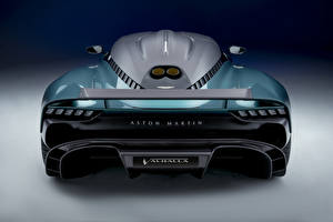Фото Астон мартин Зеленых Металлик Вид сзади Valhalla, (Worldwide), 2021 Автомобили
