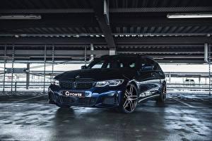 Обои БМВ Синяя Металлик 2020 G-Power M340i Touring авто