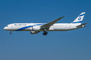 Фотографии Boeing Самолеты Пассажирские Самолеты Сбоку 787-9, El Al