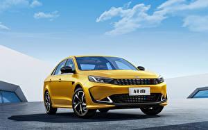 Фото Chery Желтая Металлик Китайские Cowin Xuandu, 2021 автомобиль