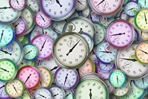 Обои для рабочего стола Циферблат Часы Много Текстура stopwatch