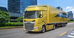 Фотография DAF Trucks Грузовики Желтый XF 450 4×2 FT, 2021 Автомобили