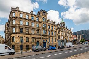 Фото Англия Дома Улица Облака Bradford, Eastbrook Hall город