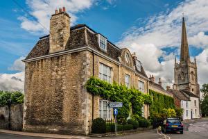 Картинка Англия Здания Улиц Lechlade