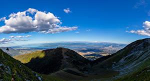 Обои Франция Горы Альпы Облако Тень Echenevex