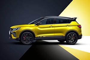 Фотография Geely CUV Сбоку Желтые Металлик Китайские Bin Yue S 'Battle' (SX11), 2021 авто