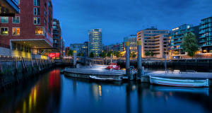 Фото Германия Гамбург Дома Набережная Hafencity город