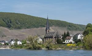Фотографии Германия Река Церковь Zell, Rhineland-Palatinate, Cochem-Zell, Rhine Города