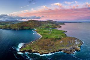 Фотографии Ирландия Побережье Сверху Donegal