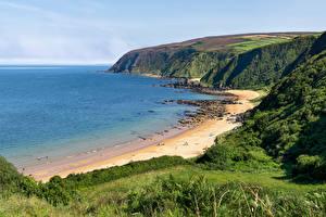 Фотографии Ирландия Побережье Пляж Kinnagoe Bay Природа