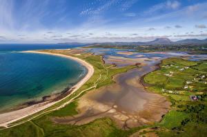Фотография Ирландия Берег Сверху Magheroarty Beach Природа