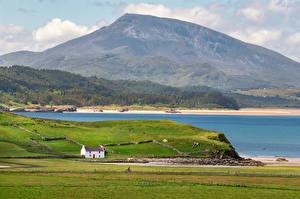 Картинки Ирландия Гора Берег Rosapenna