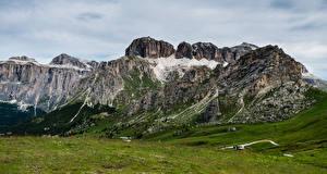 Картинка Италия Гора Альп Dolomites, Pordoi Pass
