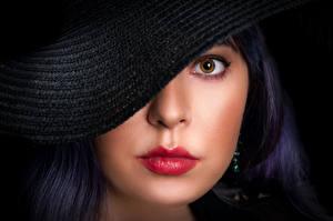 Фотографии Губы Глаза Шляпа Мейкап Взгляд Лицо Maria, Nikolay Bobrovsky Девушки