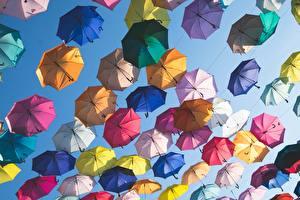 Обои Много Зонтик Разноцветные