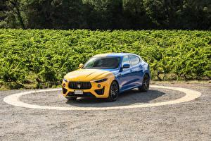 Фото Мазерати Желтые Синие Металлик Levante GT Hybrid Fuoriserie, 2021 Автомобили